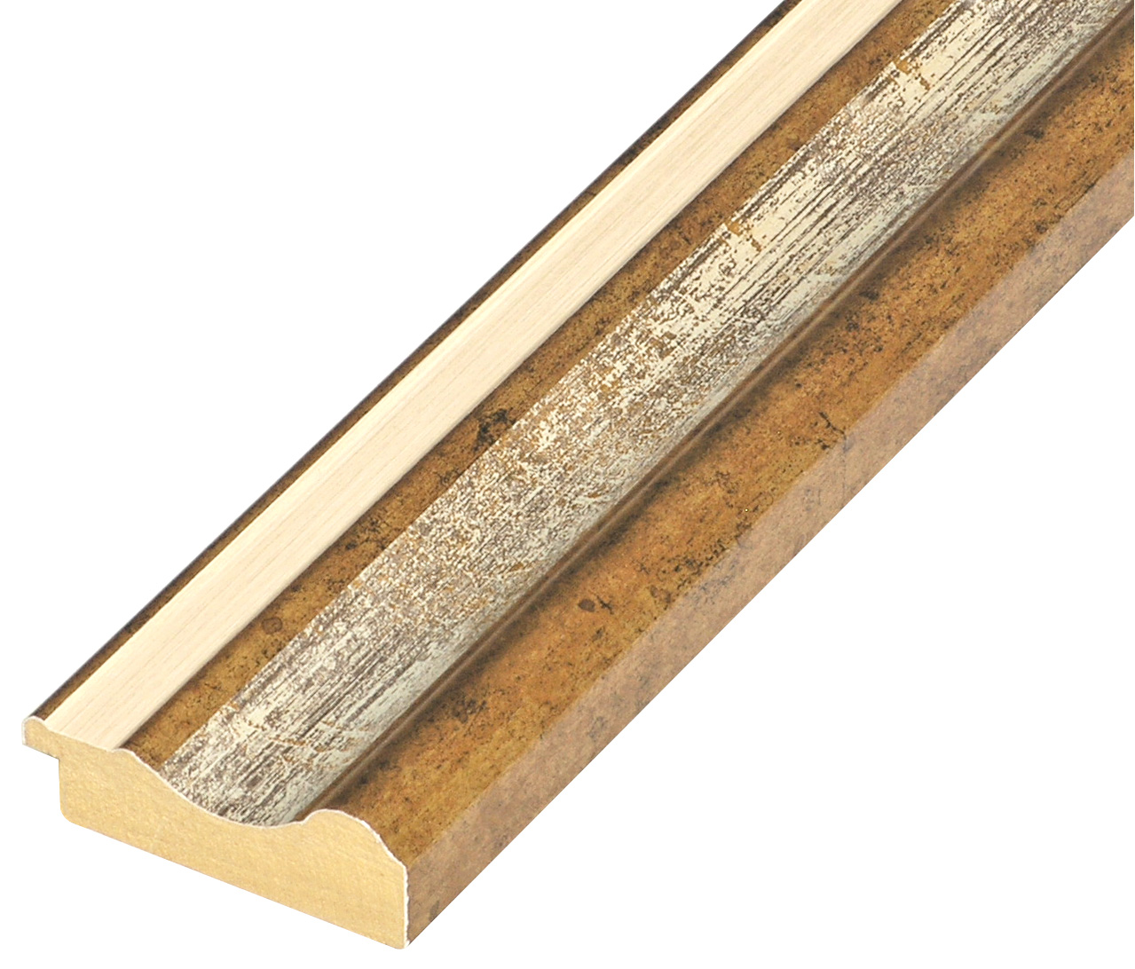 Moulding ayous - width 61mm height 20 - Gold, white band