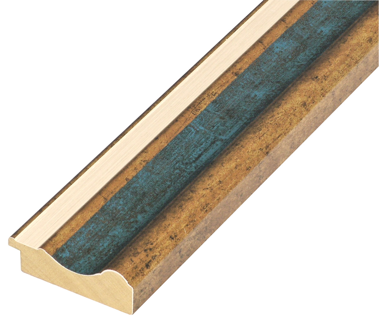 Moulding ayous - width 61mm height 20 - Gold, blue band