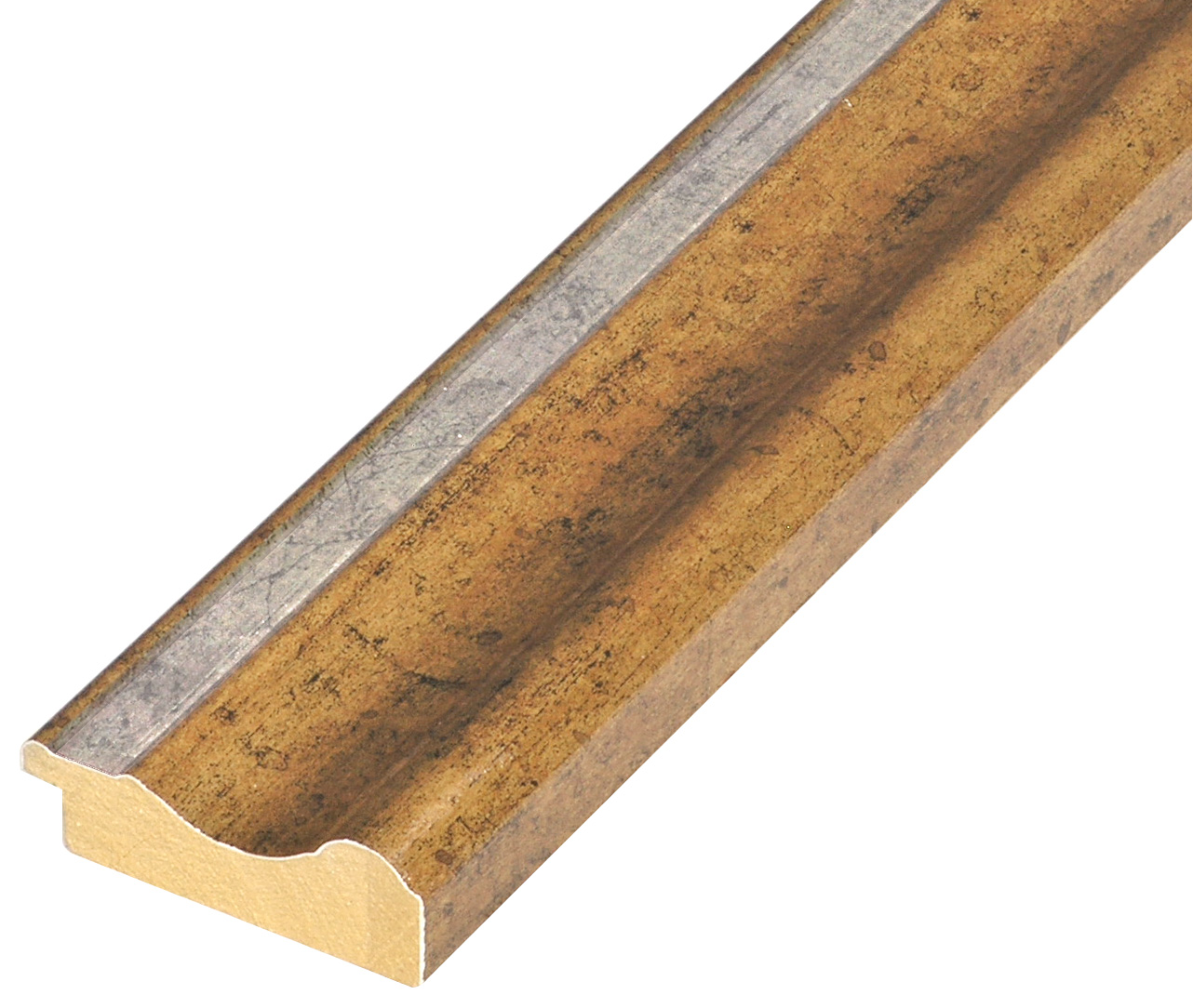 Moulding ayous - width 61mm height 20 - Gold, silver edge