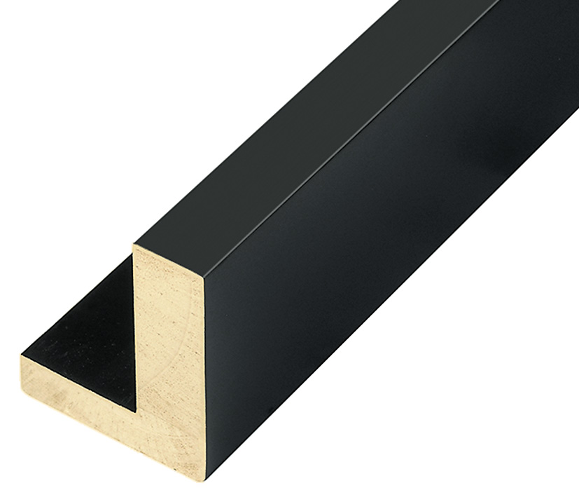 Moulding Jelutong L shape, Width 45mm Height 55 Black