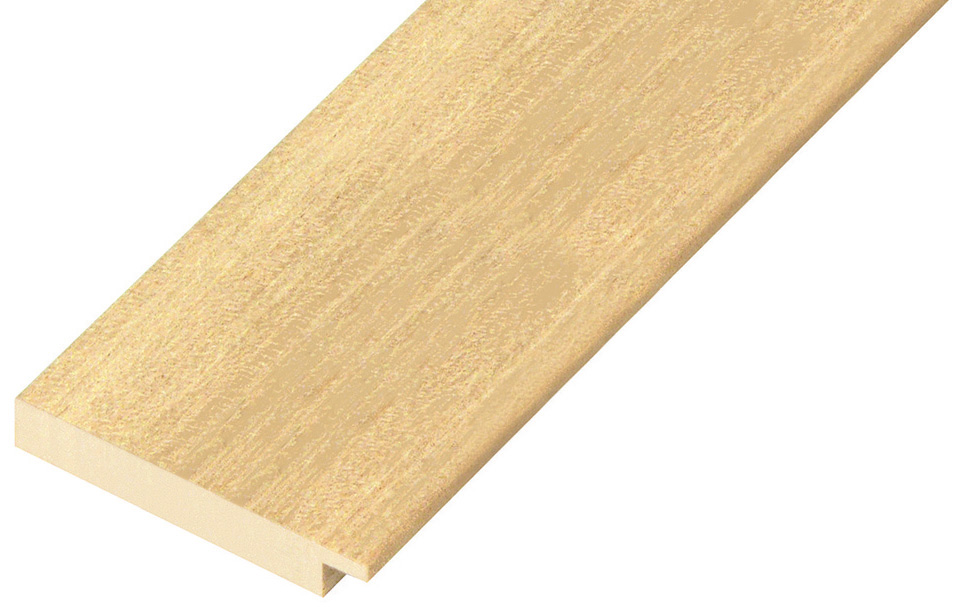 Moulding ayous, width 60mm, height 10mm, bare timber