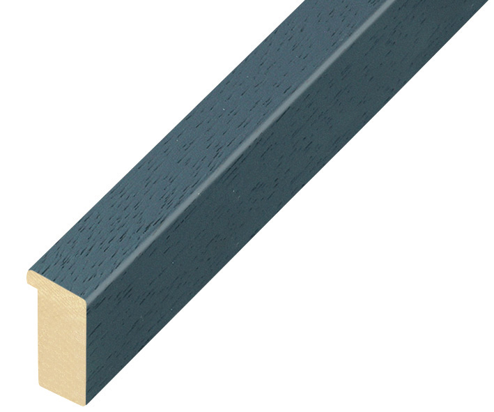 Moulding ayous, width 15mm height 25 - Blue denim