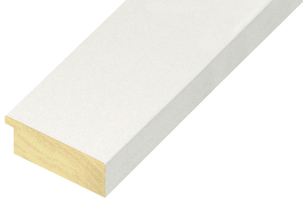 Moulding ayous, width 58mm height 20 - matt white