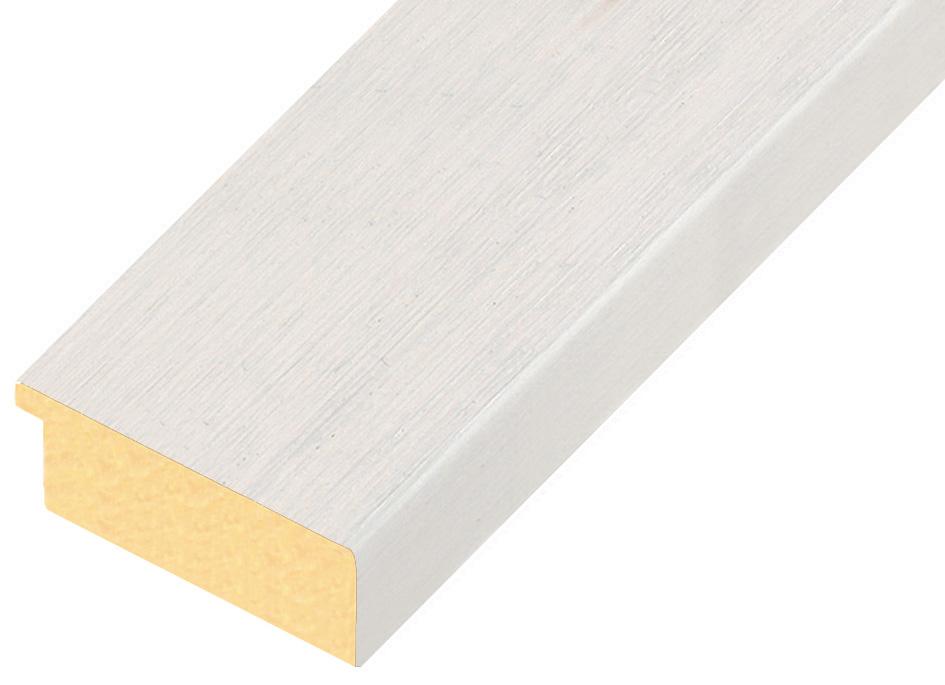 Moulding ayous, width 58mm height 20 - white, open grain