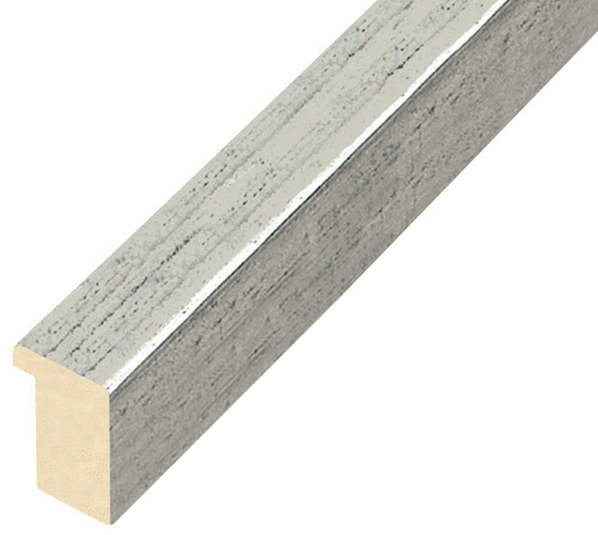 Moulding ayous, width 20mm height 25 - Old Silver