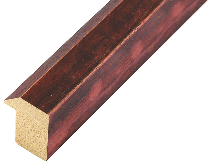 Moulding ayous, width 27mm, height 35, distressed red