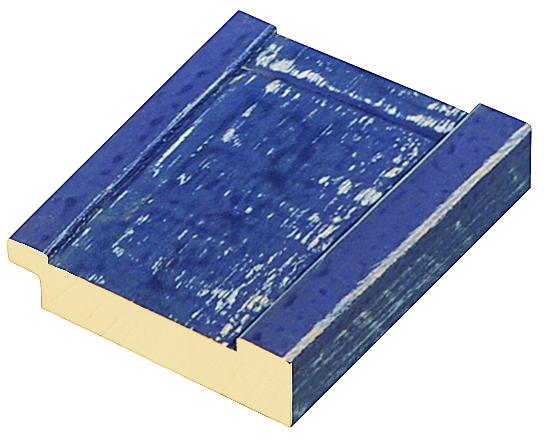 Moulding pine 62mm - rustic matt blue (mt 6)