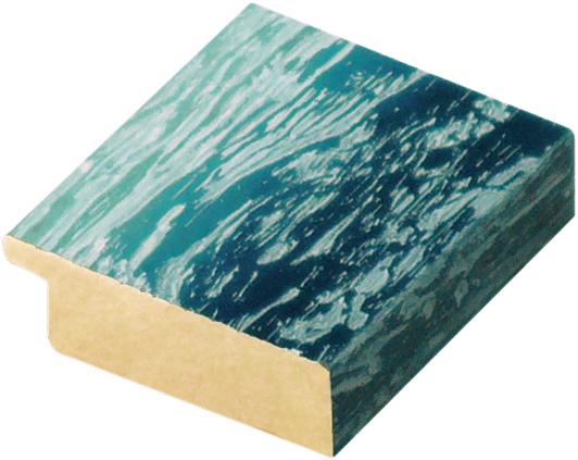Moulding ayous 63mm - distressed mottled blue (mt 9)