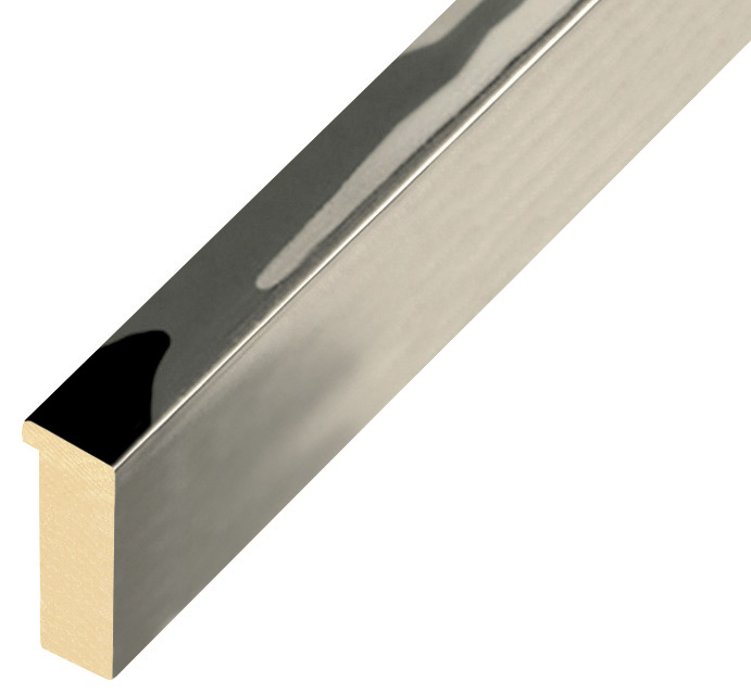 Moulding ayous, width 15mm height 32 - glossy silver