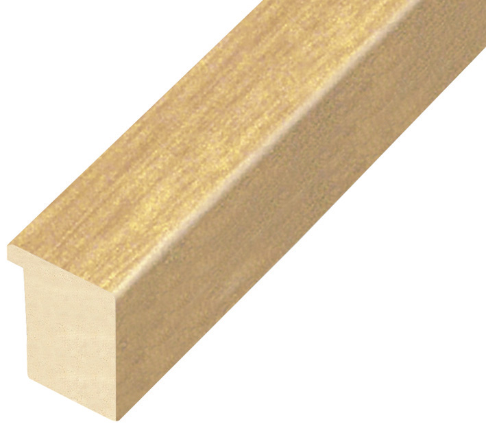 Moulding ayous, width 30mm height 32 - natural wood
