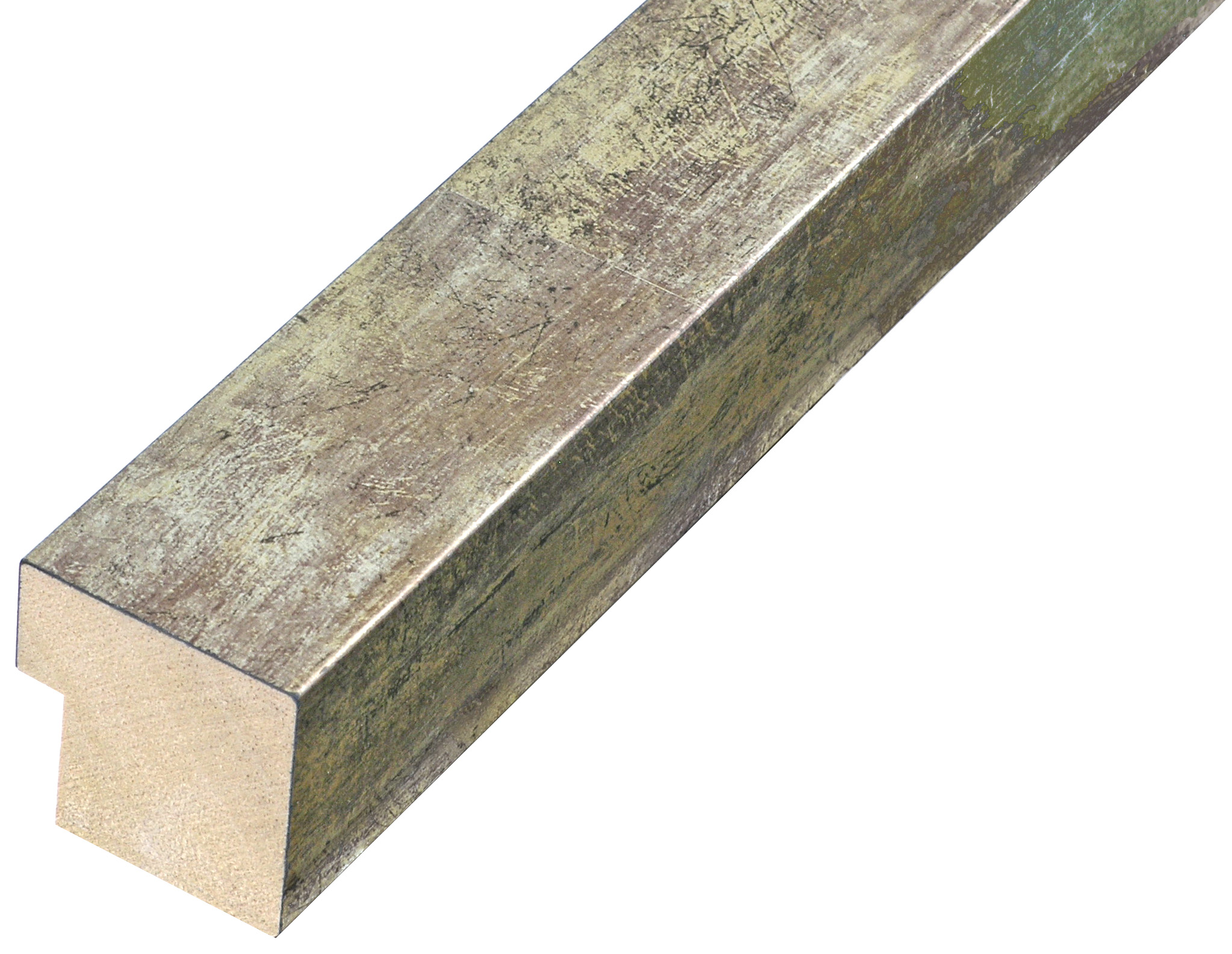 Moulding finger joint pine width 34mm height 34 - silver