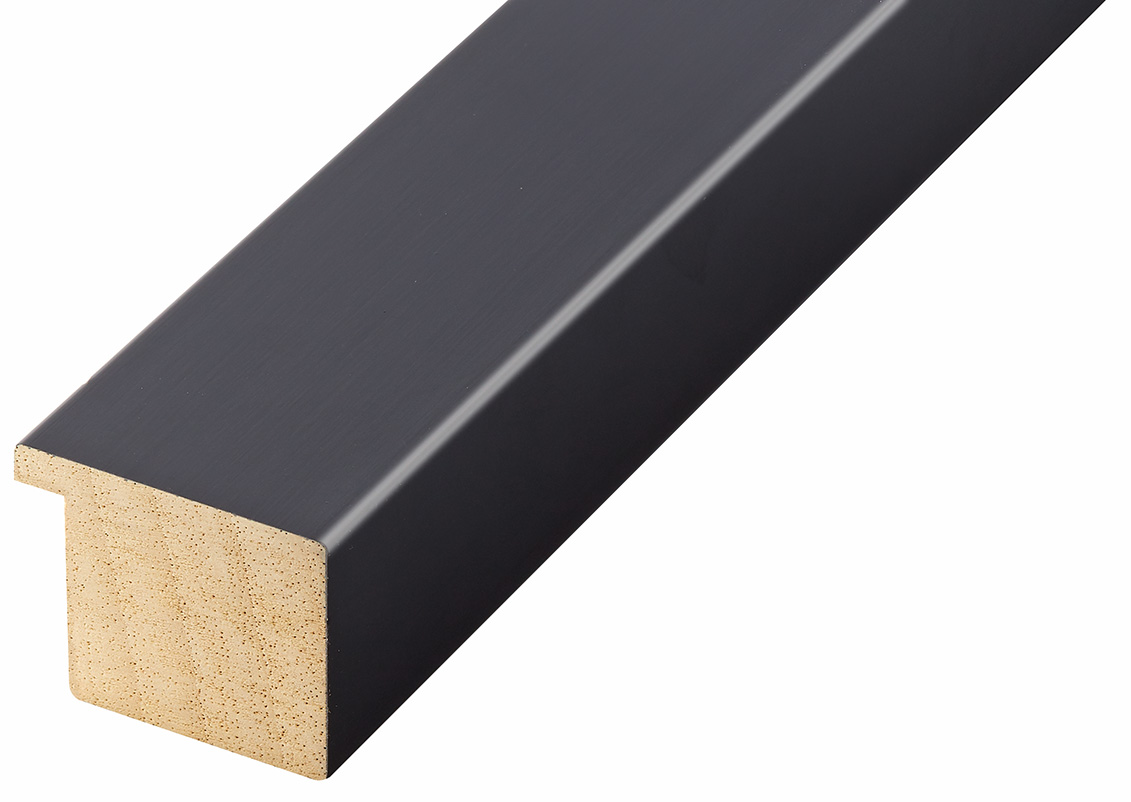 Straight sample of moulding 740NERO