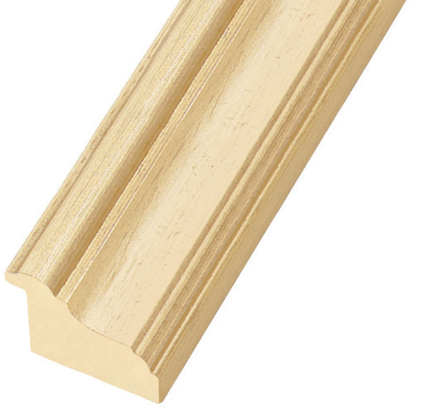 Moulding ayous, width 45mm, height 33mm, bare timber