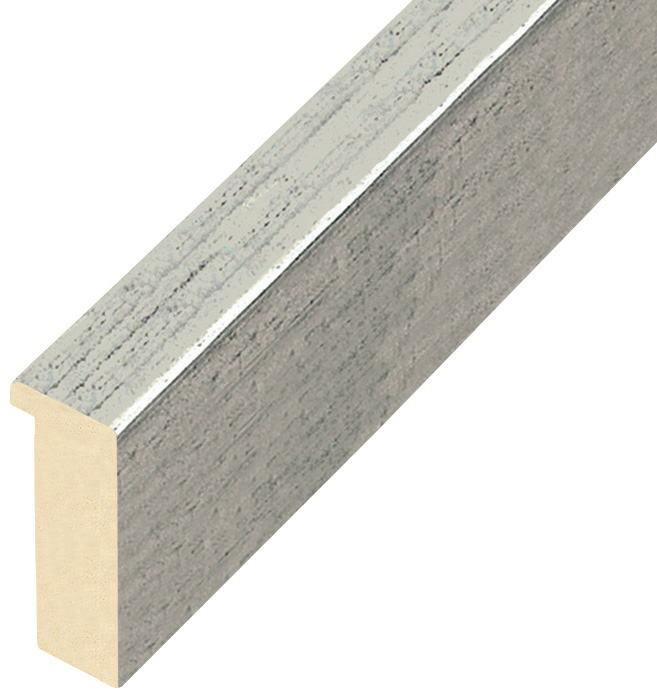 Moulding ayous, width 20mm height 45 - old silver