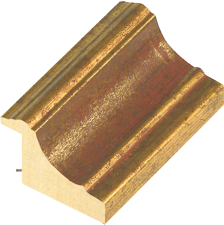 Moulding ayous, width 44mm, height 32, gold with red band