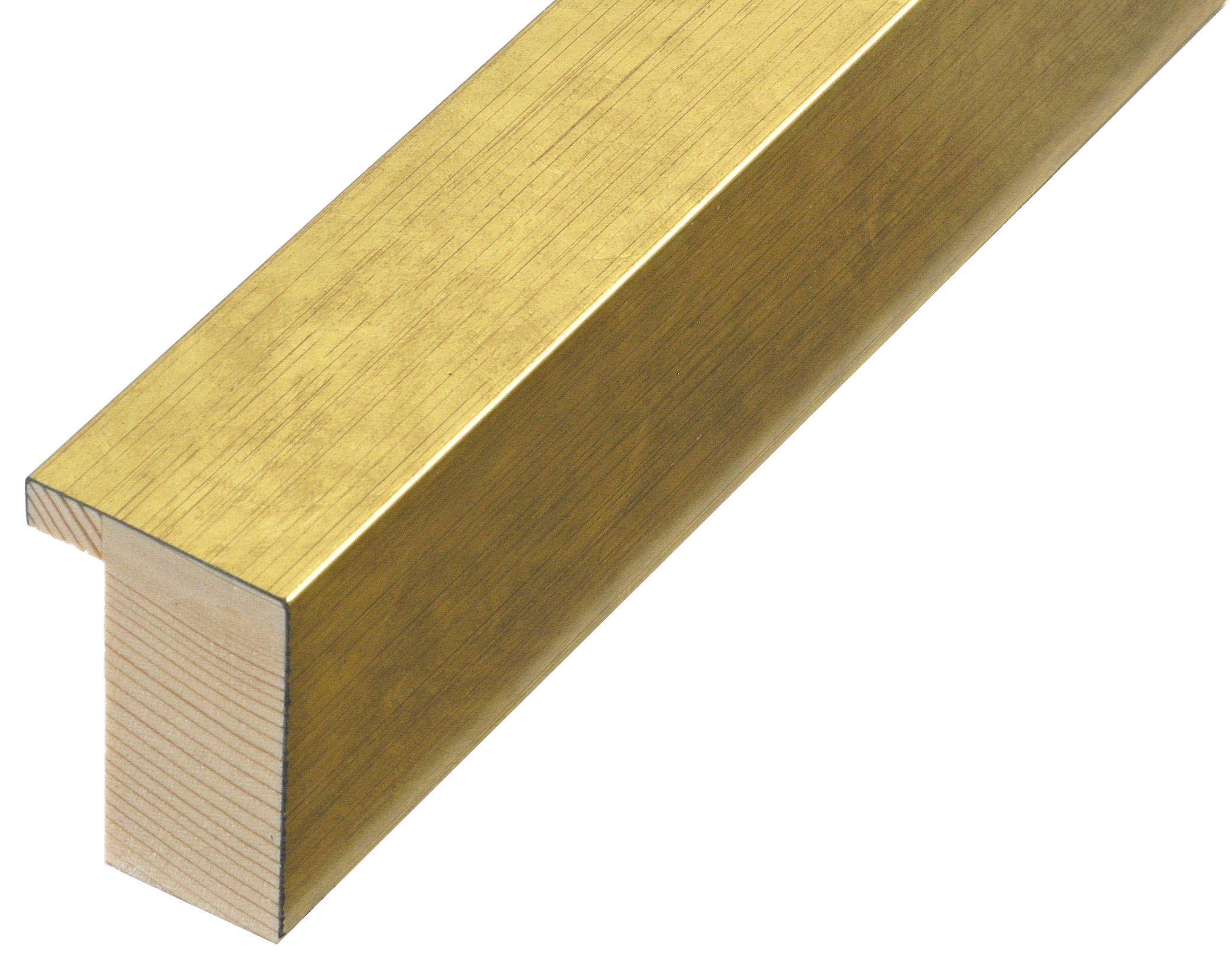 Moulding finger jointed pine Width 33mm height 50 - Gold