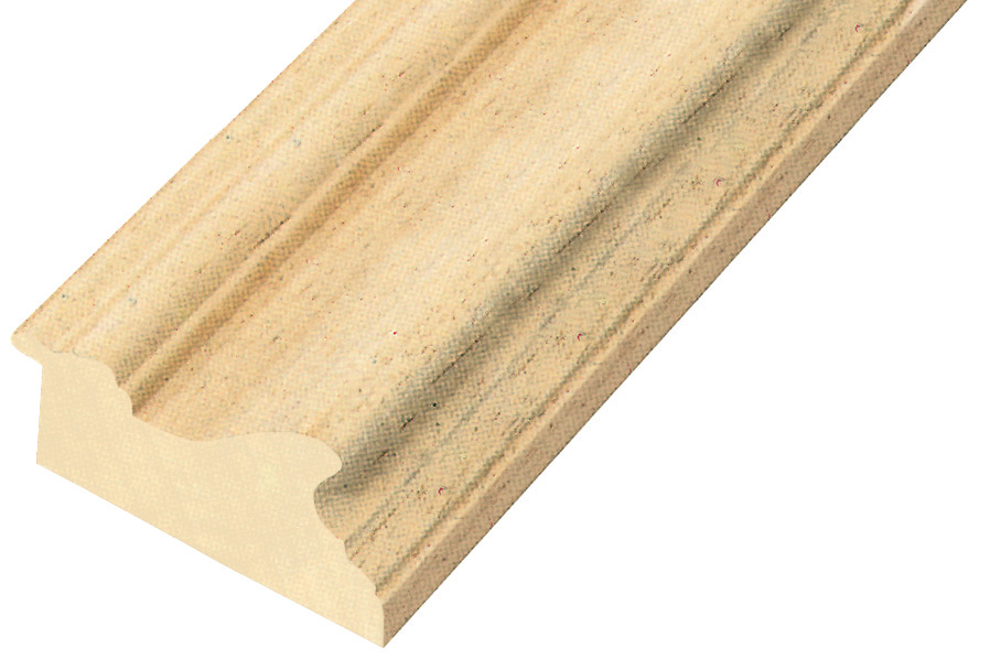 Moulding ayous, width 81mm, height 45mm, bare timber