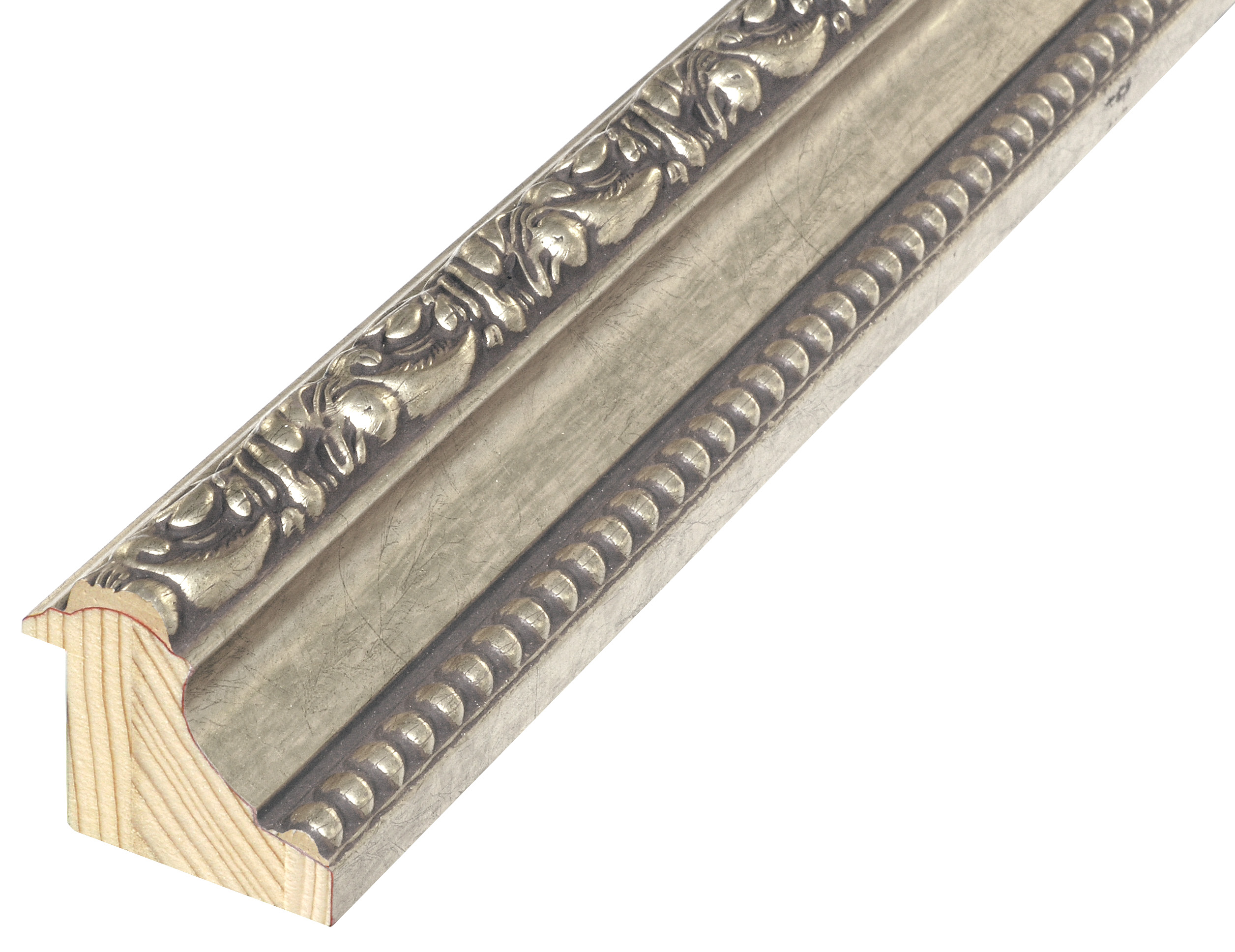 Moulding jointed fir, width 50mm, height 44 - Silver, decorations