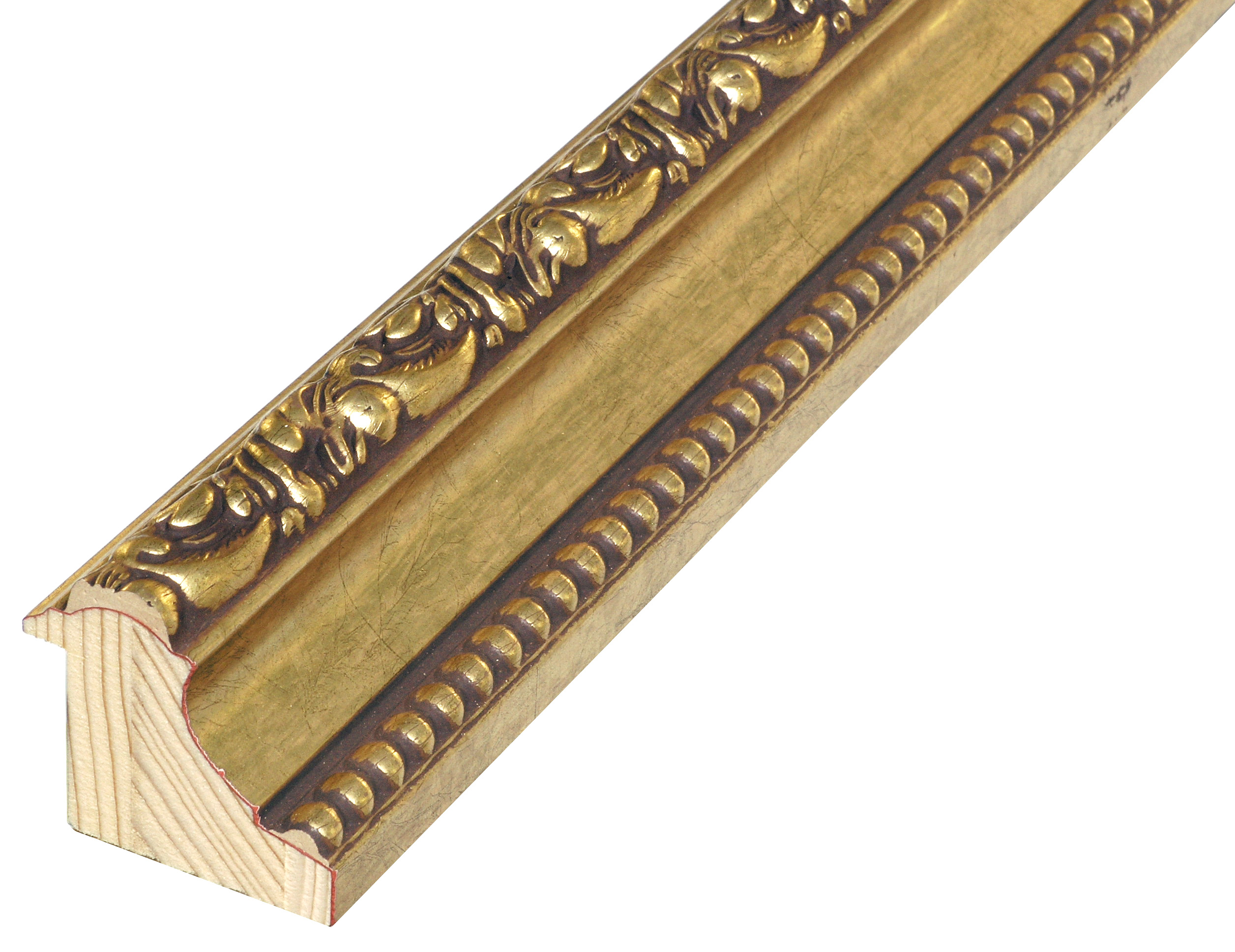 Moulding jointed fir, width 50mm, height 44 - Gold, decorations