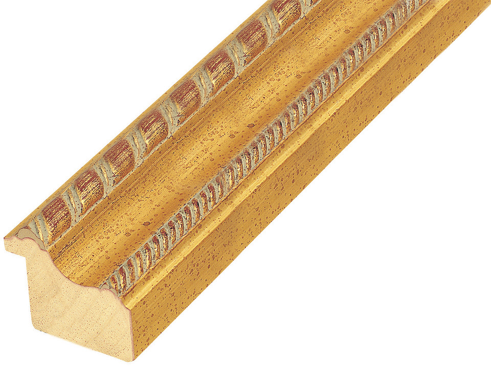 Moulding ayous, width 45mm, height 38, gold