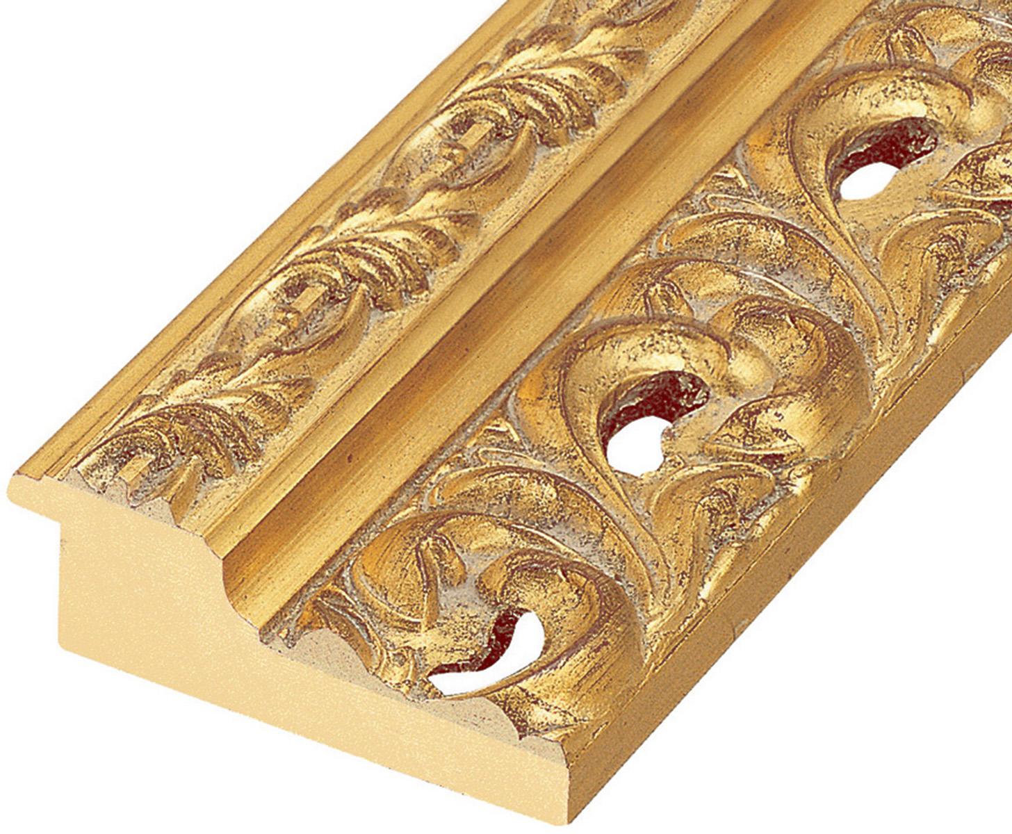 Moulding finger-joint pine Width 95mm - Gold