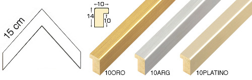 Complete set of corner samples of moulding 10 (3 pieces)