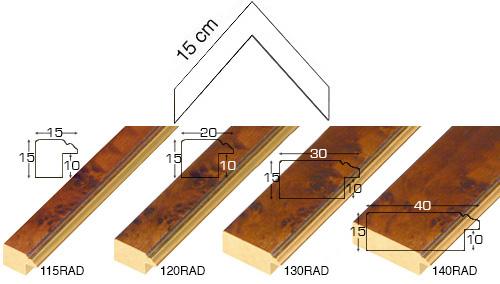 Complete set of corner samples of moulding 120 (4 pieces)