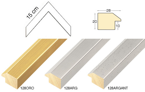 Complete set of corner samples of moulding 128 (3 pieces)
