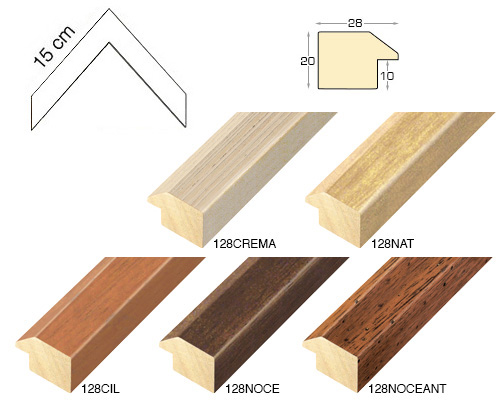 Complete set of corner samples of moulding 128 (5 pieces)