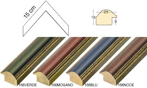 Complete set of corner samples of moulding 166 (4 pieces)