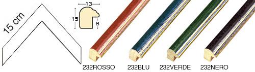 Complete set of corner samples of moulding 232 (4 pieces)