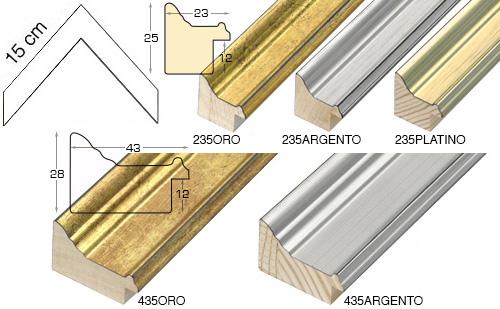 Complete set of corner samples of moulding 235 (3 pieces)