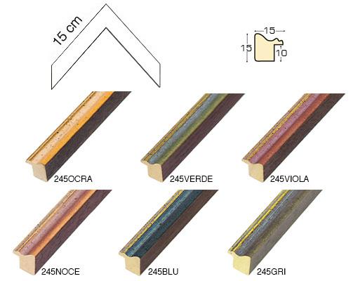 Complete set of corner samples of moulding 245 (6 pieces)