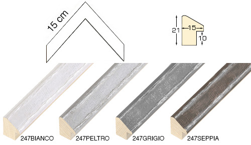Complete set of corner samples of moulding 247 (4 pieces)