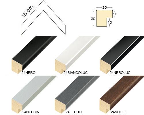 Complete set of corner samples of moulding 24 (8 pieces)