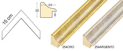 Complete set of corner samples of moulding 254 (2 pieces)