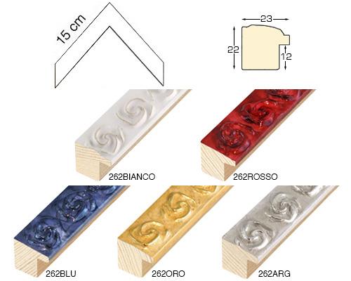 Complete set of corner samples of moulding 262 (4 pieces)