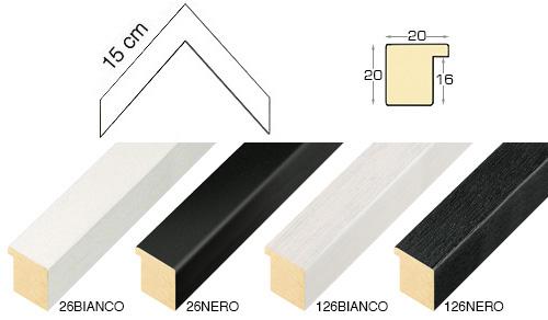 Complete set of corner samples of moulding 26 (4 pieces)