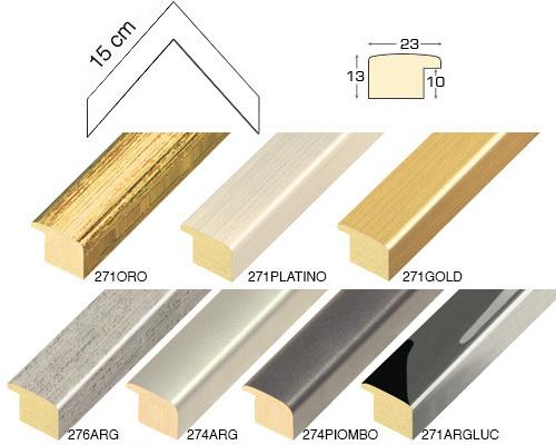 Complete set of corner samples of moulding 271 (7 pieces)