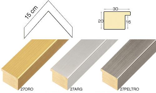 Complete set of corner samples of moulding 27 (5 pieces)