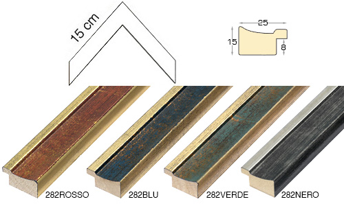 Complete set of corner samples of moulding 282 (4 pieces)