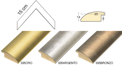 Complete set of corner samples of moulding 335 (4 pieces)