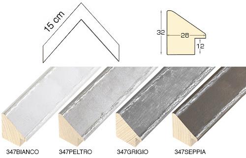 Complete set of corner samples of moulding 347 (4 pieces)