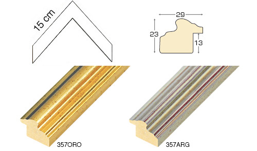 Complete set of corner samples of moulding 357 (2 pieces)