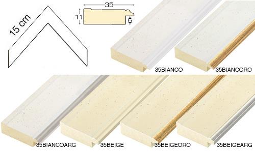 Complete set of corner samples of moulding 35 (6 pieces)