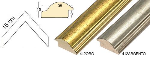 Complete set of corner samples of moulding 412 (2 pieces)