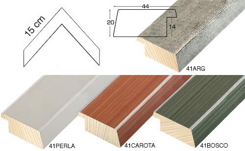 Complete set of corner samples of moulding 41 (4 pieces)