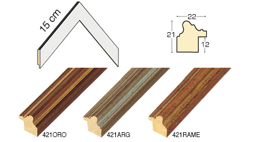 Complete set of corner samples of moulding 421 (3 pieces)