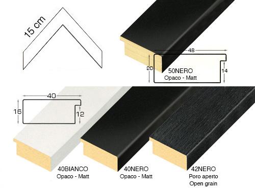 Complete set of corner samples of moulding 40