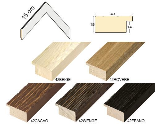 Complete set of corner samples of moulding 42